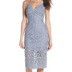 Bardot Gia Spaghetti Strap Lace Dress Blue Small